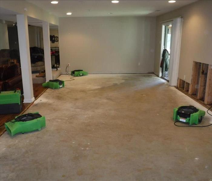 Heavy Water Damage to Carpet Before