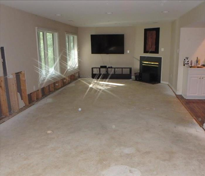 Heavy Water Damage to Carpet After